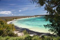 Turquoise coast on Bay of Pigeons Stock Photo