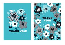 Turquoise color abstract floral pattern. For surface design. Motif with stylized flowers for card, invitation, header, poster. Geometric black and white texture Stock Photos