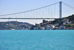 Turquoise colored Bosphorus. Royalty Free Stock Photo