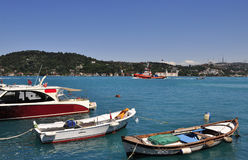 Turquoise colored Bosphorus. Stock Images