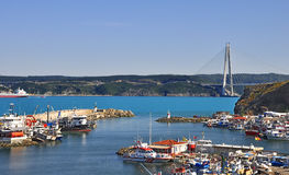 Turquoise colored Bosphorus. Stock Photography