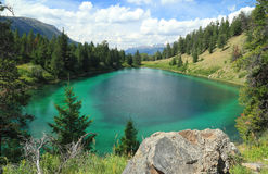 Turquoise Colored Lake - Jasper National Park Stock Image