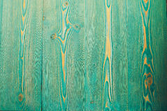 Turquoise colored wooden table. Texture, toned Royalty Free Stock Photos