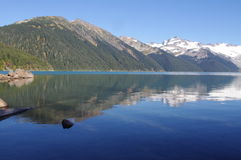 Turquoise-coloured alpine Garibaldi Lake Royalty Free Stock Photos