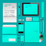Mint color Corporate ID mockup Royalty Free Stock Image