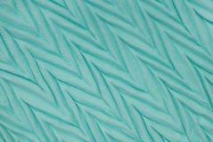 Turquoise corrugated textile Stock Image