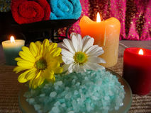 Turquoise and Cranberry Spa Royalty Free Stock Image