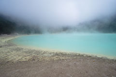 Turquoise crater. Photo of turquoise crater at ciwidey indonesia royalty free stock images