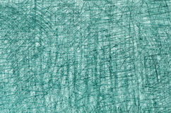 Turquoise  crayon drawings on white background texture Royalty Free Stock Photos