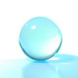 Turquoise crystal ball Stock Photography