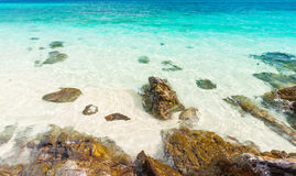 Turquoise crystal clear sea water Stock Image