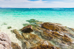 Turquoise crystal clear sea water Stock Images