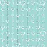 Turquoise d'amour de dentelle d'aspiration de main Photos libres de droits