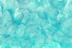 Turquoise d'aquarelles Photos libres de droits