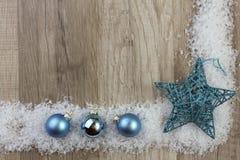 Turquoise d'ornement de Noël photo libre de droits