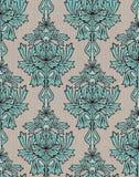 Turquoise damask background Stock Photo
