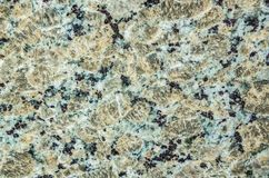 Turquoise, Dark Blue and Gold Polished Granite Royalty Free Stock Photography