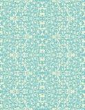 Turquoise de vintage de vecteur et sans couture floral beige Photo stock