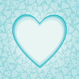 Turquoise decorative holiday background with heart Stock Photography