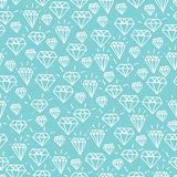 Turquoise diamond seamless pattern Royalty Free Stock Photography