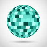 Turquoise disco ball Royalty Free Stock Image
