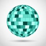 Turquoise disco ball Royalty Free Stock Image