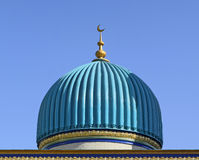 Turquoise dome above the entrance. Stock Photo
