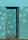 Turquoise door Stock Photo