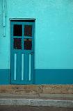 Turquoise Door. Brightly Colored Doorway in South America Royalty Free Stock Image