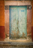 Turquoise Door, Mexico Royalty Free Stock Photography