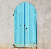 Turquoise door Stock Images