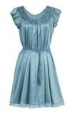 Turquoise dress royalty free stock photo