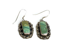 Turquoise Earrings Royalty Free Stock Photos