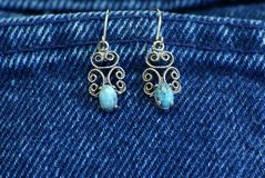 Turquoise Earrings Royalty Free Stock Photo