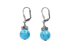 Turquoise earrings Stock Images