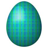 Turquoise egg with checkered pattern Royalty Free Stock Image