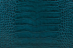 Turquoise embossed leather texture background Stock Images