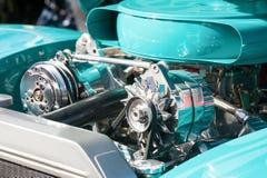 Turquoise engine bay Royalty Free Stock Image