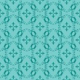 Turquoise et Teal Ornamental Swirl Background Images stock