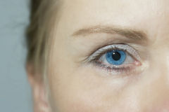 Turquoise eye Stock Photography