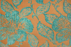 Turquoise fabric wallpaper Stock Photo