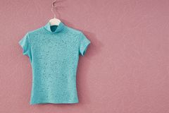 Turquoise female tee-shirt Royalty Free Stock Photos