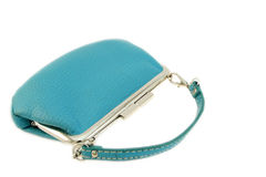 Turquoise feminine purse Stock Photos