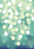 Turquoise festive lights, vector background. Royalty Free Stock Photography