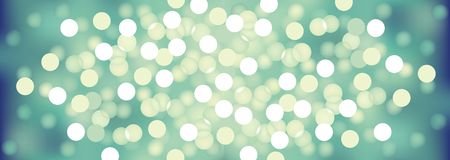 Turquoise festive lights, vector background. Stock Image