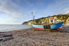Turquoise Fishing Boat Stock Photos