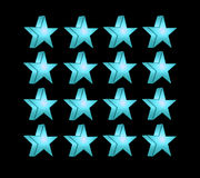 Turquoise five pointed star