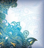 Turquoise Floral Background Royalty Free Stock Images