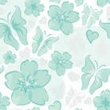 Turquoise floral background Royalty Free Stock Photography