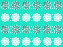 Turquoise Floral Design Royalty Free Stock Image